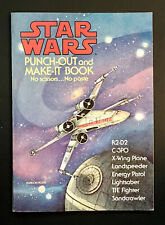 """""""Star Wars Punch-Out And Make It Book� Random House Uncut Paper Dolls Vintage"""