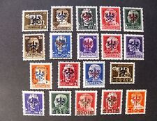 "GERMANIA GERMANY,REICH 1944 Laibach,Lubiana"" Fr.Imperiali SVR"" 19 V.Cpl. set MNH"