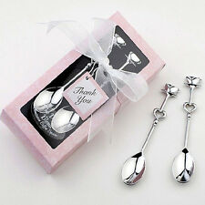 1 Pair Sweet LOVE Drink Tea Coffee Spoons Bridal Shower Wedding Party Favor Gift
