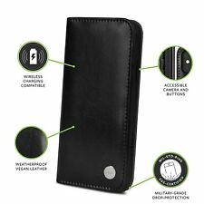 """Moshi Overture Genuine Wallet Case for iPhone X 5.8"""" -  Black"""