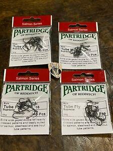 10 Partridge Tube Fly Supreme Double Salmon Hooks All Sizes 10-18