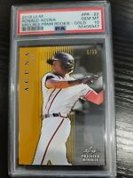 2018 LEAF PREMIER ROOKIE ATLANTA BRAVES RONALD ACUNA RC SP #5/25 PSA 10 GEM MT