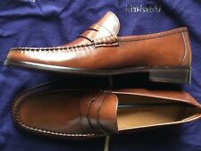 Florsheim Men's Brookfield Peny Leather Cognac Smooth Shoes 12109-221 Sz 8.5-NEW