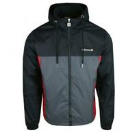 Ellesse  Mens Jacket Track Top Full Zip Hooded Black Grey Herens New