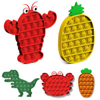 Animal / Fruit Push Pop Bubble Fidget Toys Sensory Stress Relief Game Classroom.