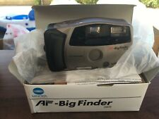 NEW Minolta AF-Big Finder 35mm Point and Shoot Film Still Camera w/ Flash Silver