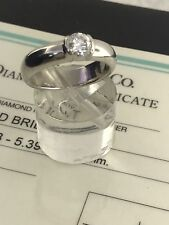 Tiffany & Co. Platinum Diamond Etoile Engagement Ring 0.59 CT. EVS1 Sz 6.5-6.75