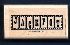 JACKPOT SLOTS MACHINE LINE Casino Game Night Card NEW STAMPIN' UP! RUBBER STAMP