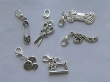 Set of 6 Stitch Markers,Knitting Sewing Theme, Row Counters,Charms Accessories