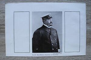 1 Blatt 1914-18 1.WK Meyer- Waldeck Gouverneur Kiautschou China Deutsche Kolonie
