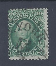 USA 1861 10c WASHINGTON GRILL 11 X 13 USED  SG 91