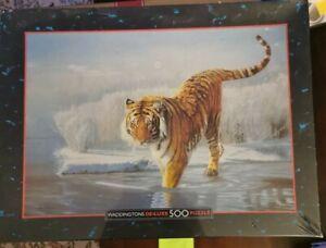 Waddingtons - De-Luxe Wildlife - 500 Piece Jigsaw Puzzle -tiger SEALED nt