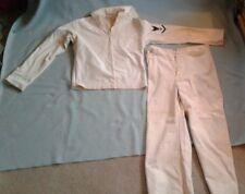 Sanforized Sailor Outfit The Seafarer 1940'S, White, Wide Leg. Pants & Shirt.