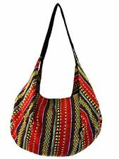 Large Aztec Shoulder Bag Boho Crossbody Convertible Backpack Cotton Striped Hobo