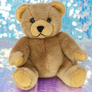 "HARD ROCK CAFE Brown Teddy Bear 8"" Plush Stuffed Animal Vintage 1990 BF051"