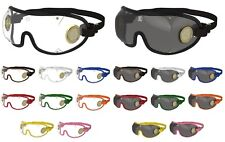 NEW- KROOPS ORIGINAL [BOOGIE] Brass Vented Skydiving Parachute Goggles
