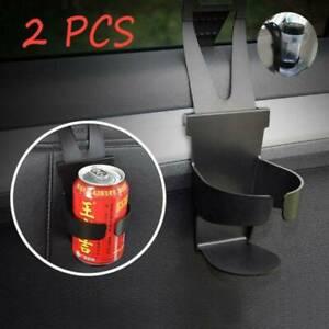 2x Universal Black Car Cup Holder Mount Water Bottle Mug Stand Drink Holders UK