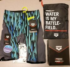 New! Arena Racing Powerskin jammer Carbon Ultra LTD Edtn. sz 32, mens tech suit!