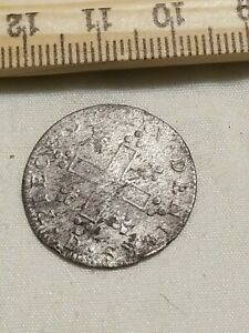 1709-13 French Colonies 30 Deniers Billon Silver Well Silvered Crisp Sharp rev