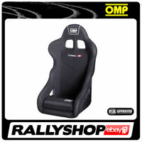 FIA OMP TRS-E BLACK RACE RALLY BUCKET SEAT Steel Frame Velour CHEAP DELIVERY