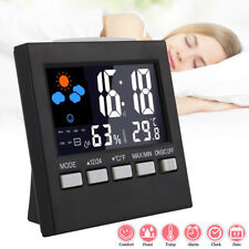 New listing Digital Lcd Thermometer Humidity Meter Hygrometer Room Temperature Deck Clock