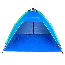 2m x 2m ROYAL BLUE SHELTA UV PROTECTOR Pop-Up Beach Shelter Shade Sun Tent