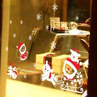 25*35cm Christmas Santa Claus Glas Fenster Sticker PVC Aufkleber Party Dekor