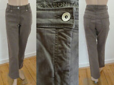 Bonita Jeans Hose 5 Pocket Straight Leg Stretch Braun 40 Top Zustand