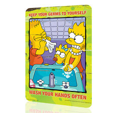 """METAL SIGN The Simpsons """"Keep Your Germs"""" Security Collection 5 Decor Wall RUST"""
