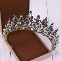 Baroque Bridal Tiara Crystal Bride Diadem Rhinestone Crown Wedding Hair jewelry