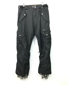 Men's 686 Smarty Snow Ski Snowboard Pants with Detachable Lining  Black Large