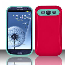 Samsung Galaxy S III 3 TPU Candy HYBRID GLOW Case Phone Cover Hot Pink Baby Blue
