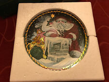 Bing Grondahl 1992 Santa Claus Collection Christmas Plate Hans Henrik Hansen