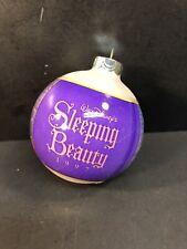 Disney Sleeping Beauty Glass Bulb Ball Christmas Ornament, 1997