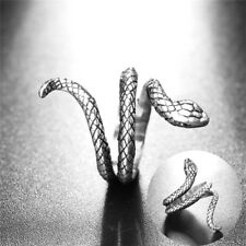 Vintage Antique Silver Plated Ring Women Jewelry Men Retro Alloy Snake Open FO
