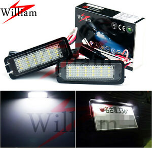 2x LED License Plate Lights Xenon Lamps White For Porsche Cayenne 958 2012-2013