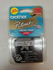 Brother P Touch M Tape Blue Ink On White Tape Mk 233 12 New Sealed