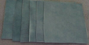 Scrap Leather Genuine Cowhide Aqua (blue-green)   6 pieces 4 x 4 inches  New