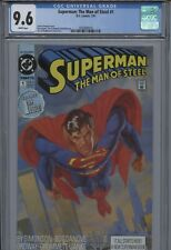 Superman The Man of Steel #1 CGC 9.6  White Pages, DC Comics 1991