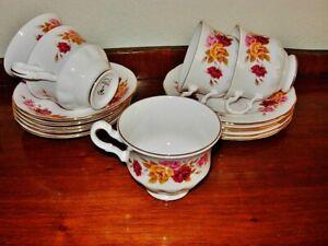 Gainsborough porcelain Fine bone china 15 pcs part tea set Made in England VGC