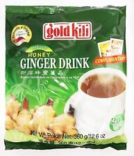 Gold Kili Instant Honey Ginger Drink 360g (18g X 20 Sachets Per Pack )