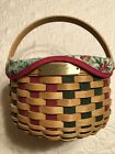 Longaberger Christmas Collection 2003 Caroling Basket With Liner And Protector