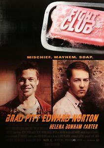 Kampf Club Klassisch 90's Vintage Filmplakat - Wand Film Kunstdruck - Brad Pitt