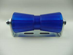 Sliprolle Bootsauflage Kielrolle Rolle 200 mm aus Polyvinyl blau inkl. Halterung