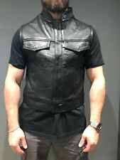 Leather Vest - Hells Angels Support Gear - Big Red Machine London