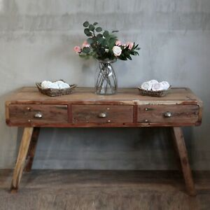 Recycled Teak Console Table - 1.5m - Handmade Bali Wooden
