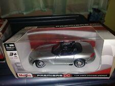 2013 Maisto Premiere DC Silver 2003 Dodge Viper 1:24 Car