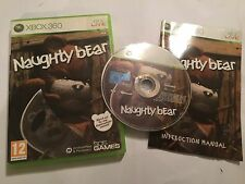 XBOX 360 GAME NAUGHTY BEAR +BOX INSTRUCTIONS COMPLETE UK/EURO PAL FORMAT