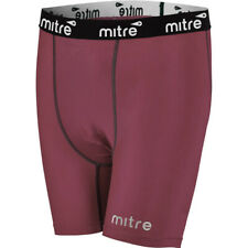 Mitre Neutron Compression Base Layer Shorts Size MD Men Activewear Tights Maroon