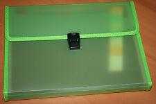 Exacompta Trieur Familial valisette 12 compartiments 24 x 32 cm Vert. Neuf